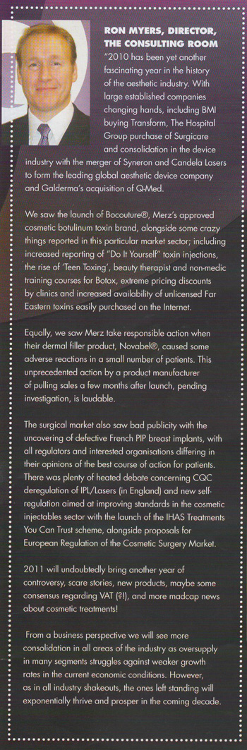Ron Myers - 2011 Predictions for aesthetic industry