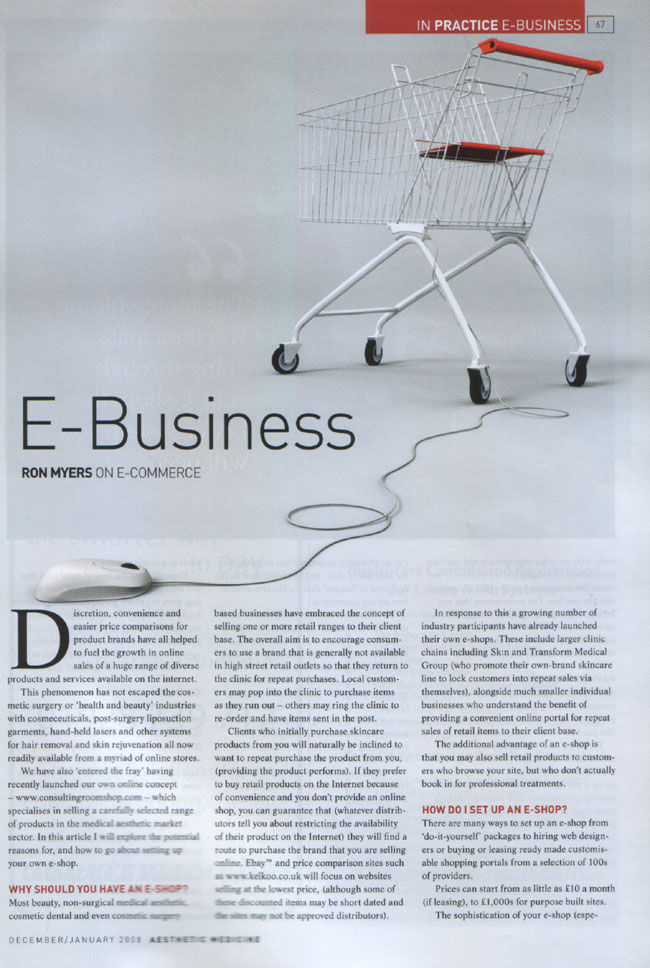 Aesthetic Medicine - December/January 2008 -E-Business Page 1