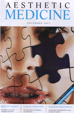 Aesthetic Medicine Magazine November 2007 Cover