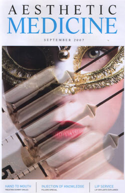 Aesthetic Medicine Magazine September 2007 Cover