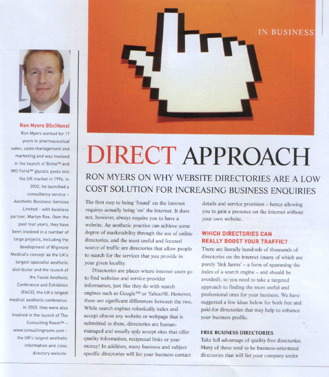 Aesthetic Medicine - Direct Approach Page 1