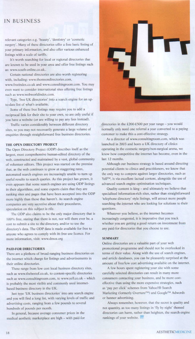 Aesthetic Medicine - Direct Approach Page 2