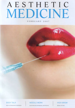 Aesthetic Medicine Magazine February 2007 Cover