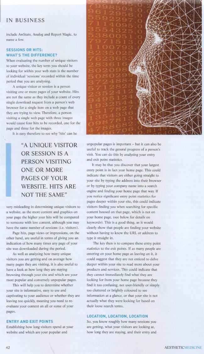 Aesthetic Medicine Magazine February 2007 - Vital Statistics Page 2
