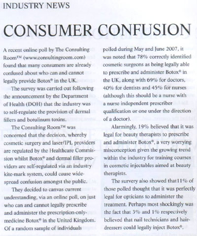 Industry News - Consumer Confusion