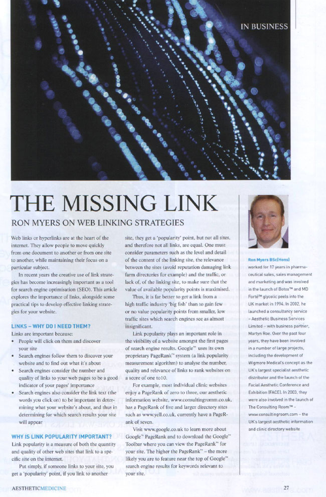 The Missing Link - Web Linking Strategies