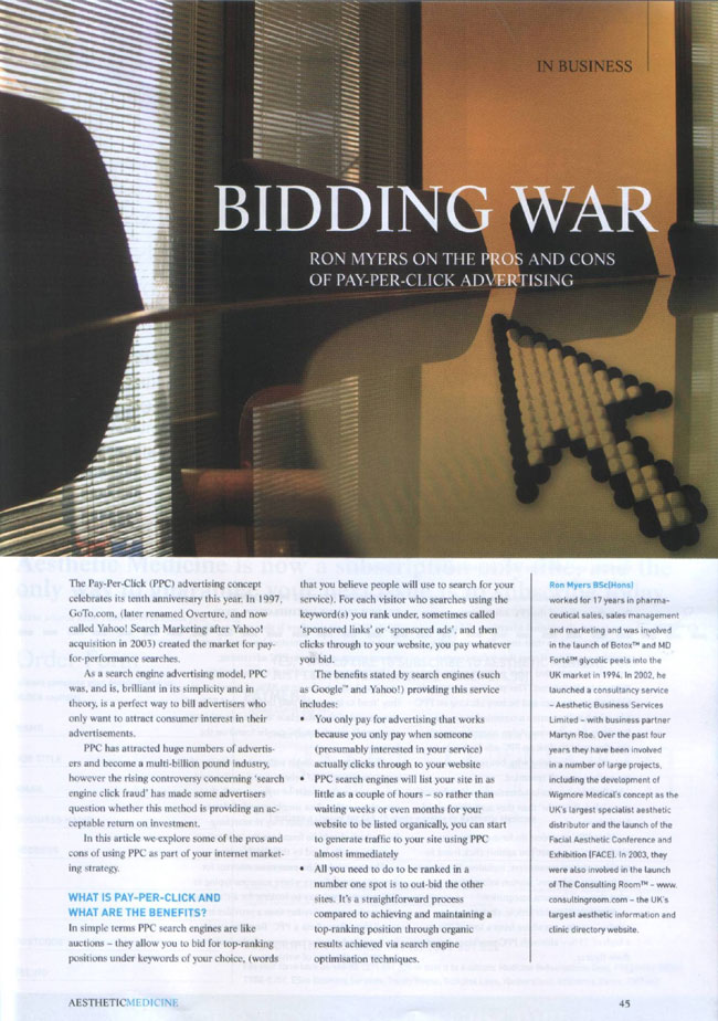 Bidding War - Pay Per Click Advertising - Page 1