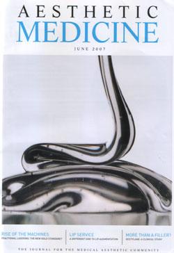 Aesthetic Medicine Magazine june 2007 Cover