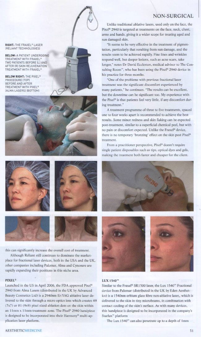 Aesthetic Medicine Magazine June 2007 - Rise of The Machines Page 2