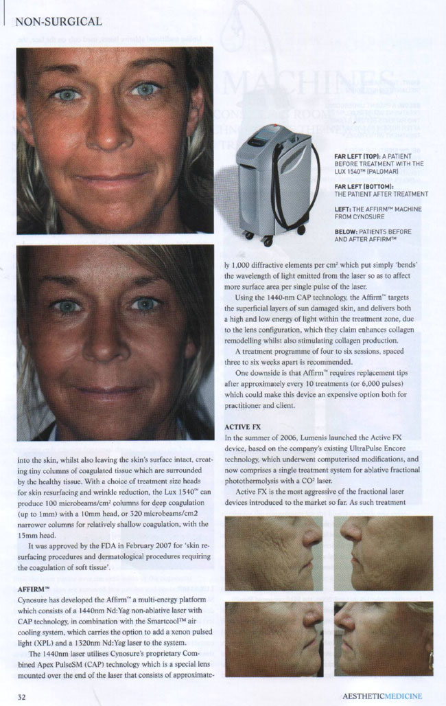 Aesthetic Medicine Magazine June 2007 - Rise of The Machines Page 3