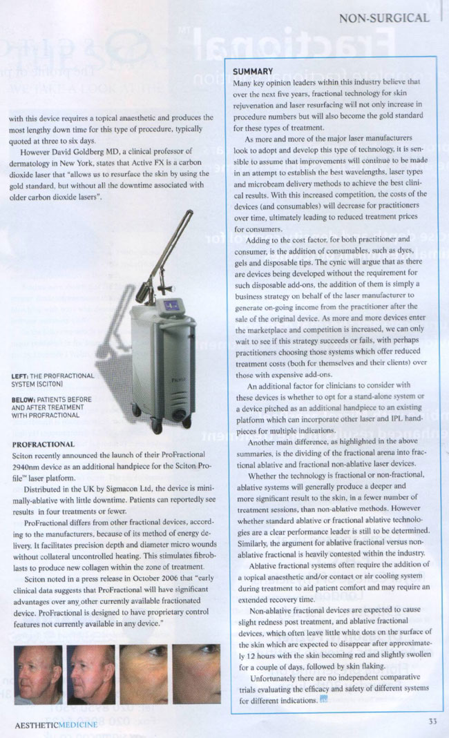 Aesthetic Medicine Magazine June 2007 - Rise of The Machines Page 4