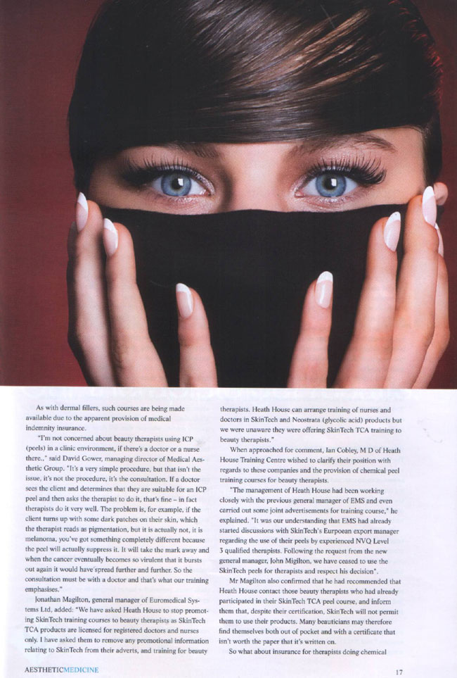 Aesthetic Medicine Magazine May 2007 - Lethal Injectors Page 3