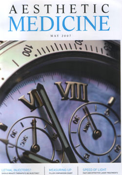 Aesthetic Medicine Magazine May 2007 Cover