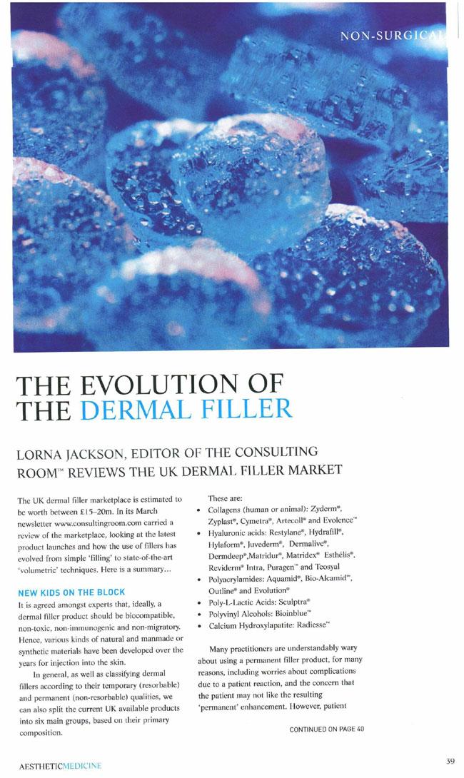 Aesthetic Medicine - Evolution of the Dermal Filler Page 1