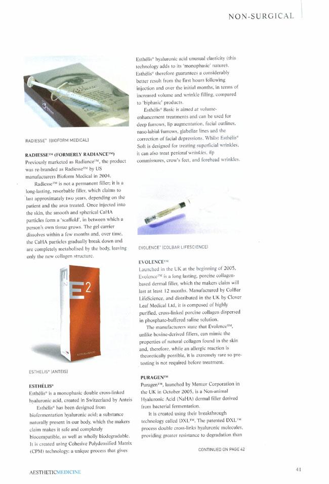 Aesthetic Medicine - Evolution of the Dermal Filler Page 3