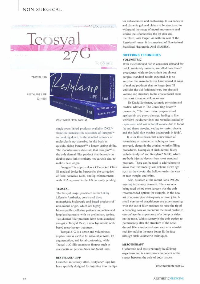 Aesthetic Medicine - Evolution of the Dermal Filler Page 4