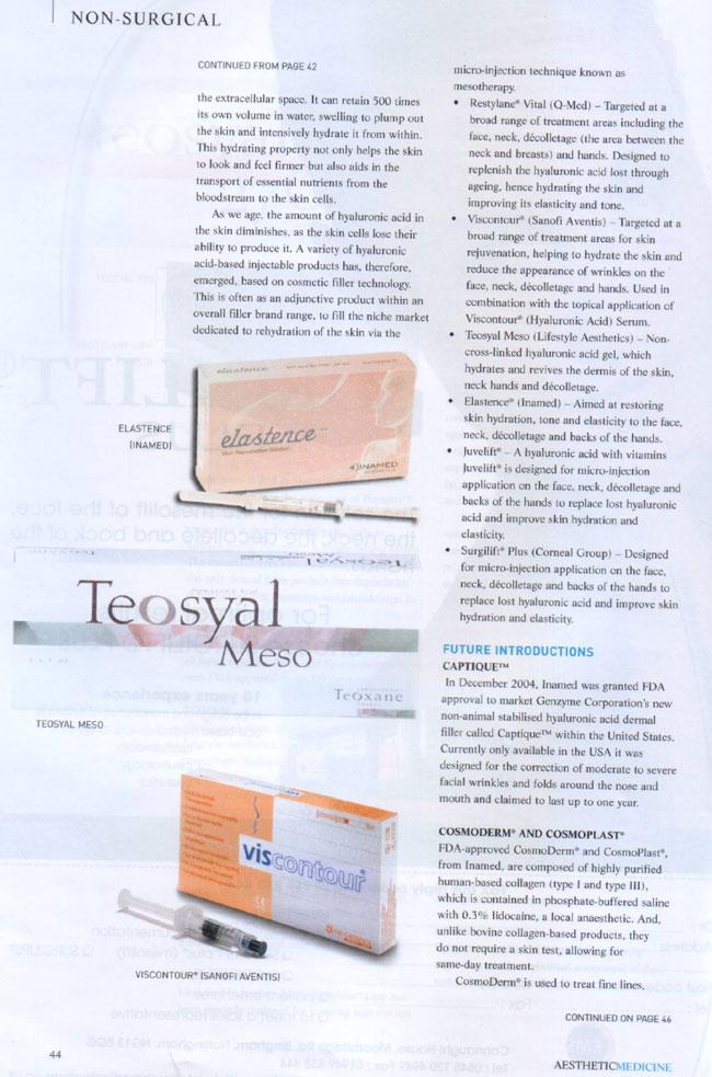 Aesthetic Medicine - Evolution of the Dermal Filler Page 5