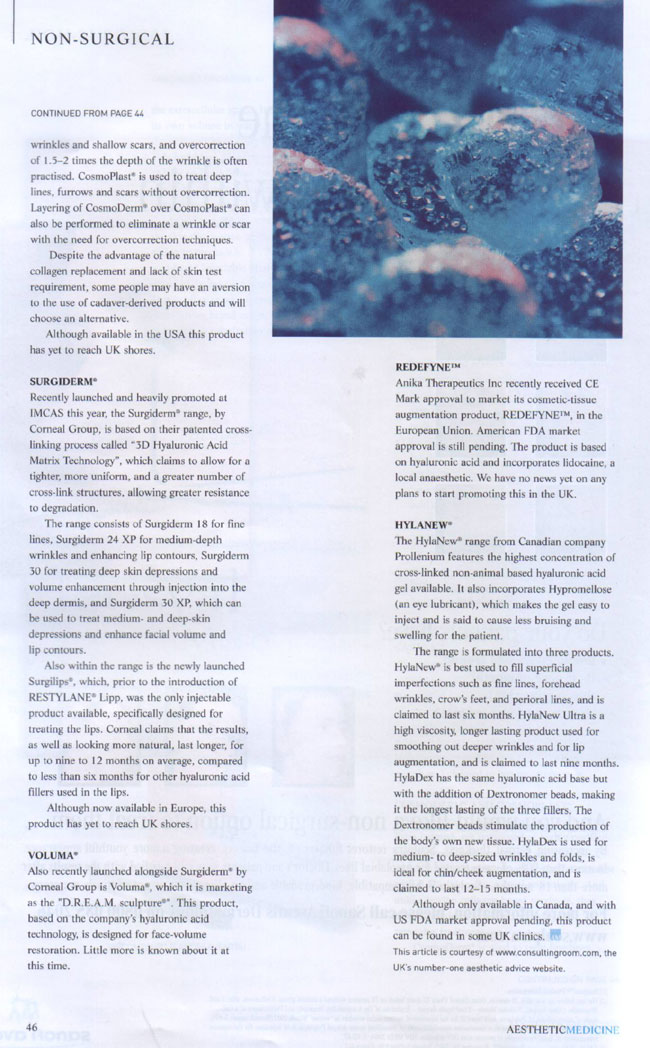 Aesthetic Medicine - Evolution of the Dermal Filler Page 6