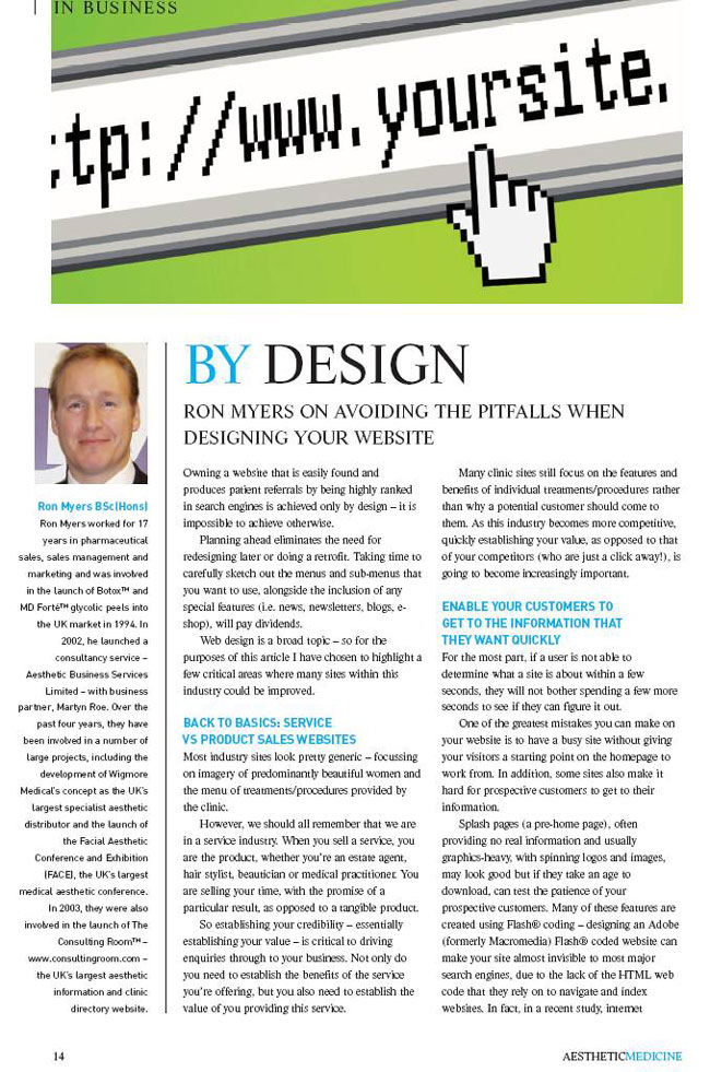 Aesthetic Medicine - By Design - Page 1