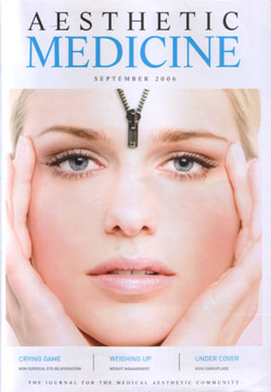 Aesthetic Medicine September 2006 Cover