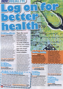 Now Magazine - Log on For Better Health - Page 1