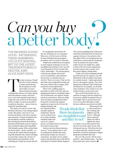 Red Magazine - Can You Buy a Better Body?