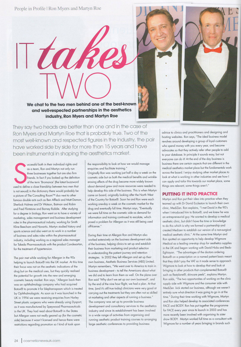Cosmetic News - It Takes Two - Rom Myers and Martyn Roe - Page 1