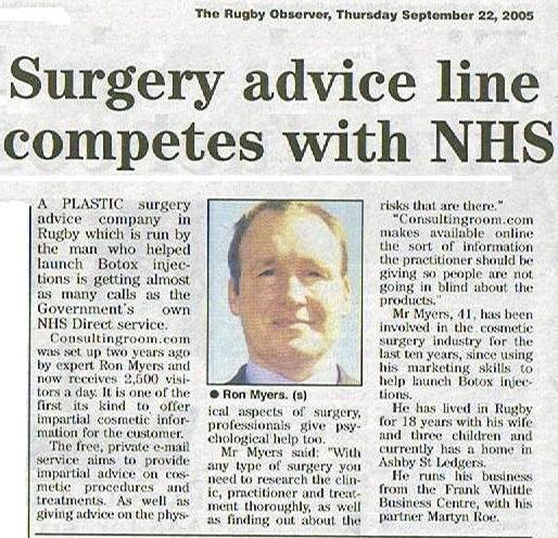 Rugby Observer - Surgery Advice Line Competes With NHS