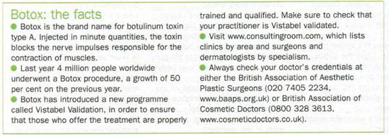 Sunday Express - Botox? Never Again - Facts
