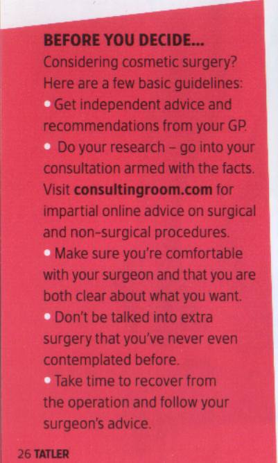 Tatler Anti-Ageing & Cosmetic Surgery Guide