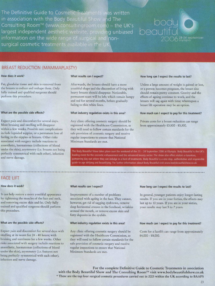 Definitive Guide to Cosmetic Treatments Page 2