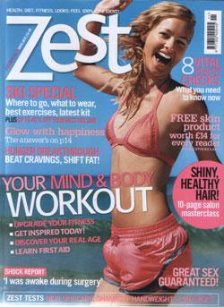 Zest Magazine November 2006 Cover