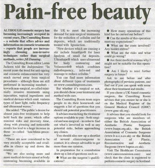 Aberdeen Independent - Pain Free Beauty