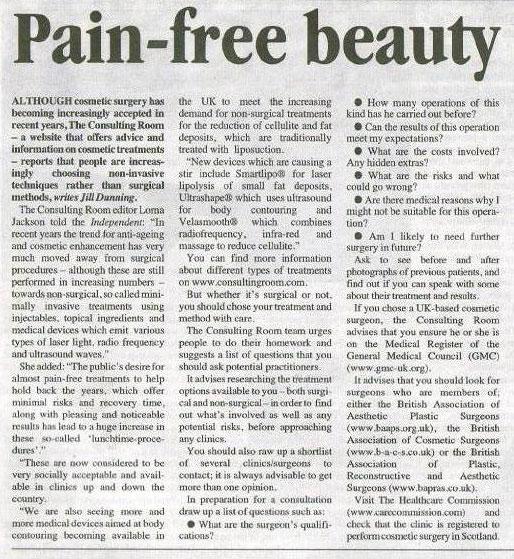 Aberdeen Independent - Pain Free Beauty