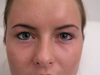 Eyeliner on a female after micropigmentation