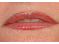 Full lip tint on a female